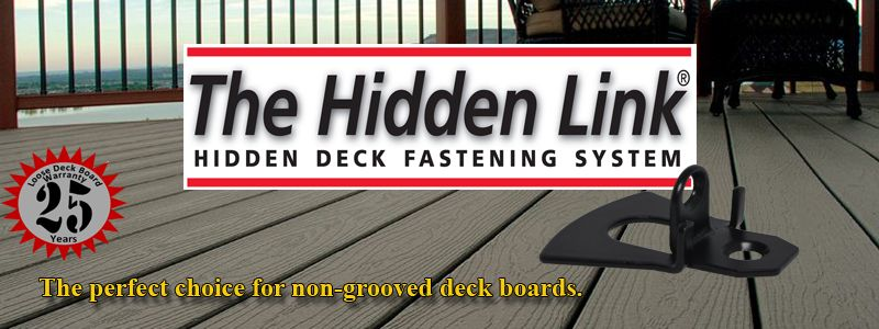 HIDDEN LINK HIDDEN DECK FASTENERS - Pan American Screw